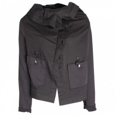 Crea Concept Roll Collar Long Sleeve Jacket
