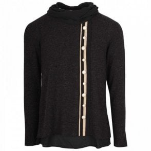 Roll Neck Pearl Detail Jumper