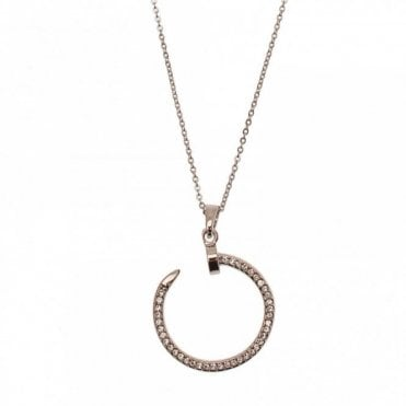 Round Head Nail Pendant Necklace