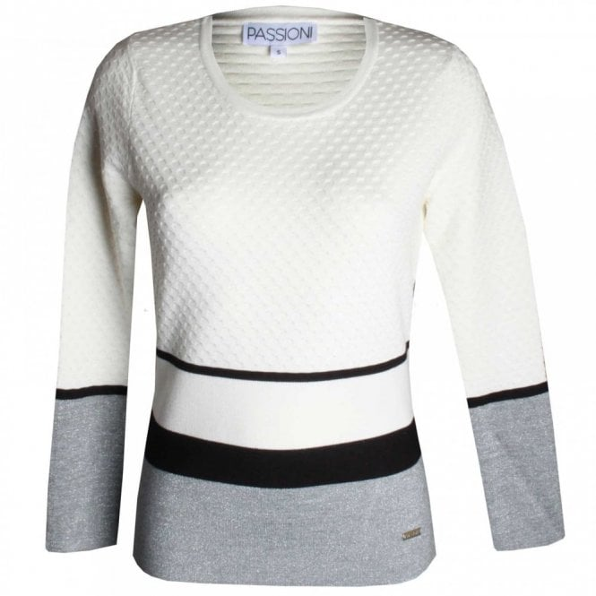 Passioni Round Neck Knitted Jumper