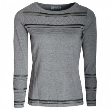 Passioni Round Neck Long Sleeve Knitted Jumper