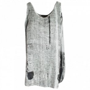 Crea Concept Round Neck Printed Sleeveless Top