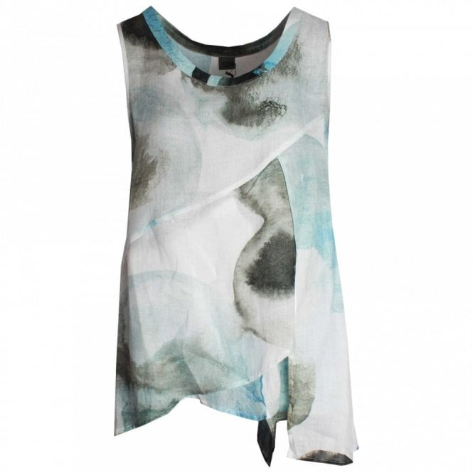 Crea Concept Round Neck Sleeveless Layered Top