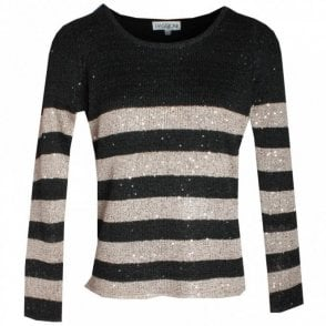 Passioni Round Neck Sparkley Jumper