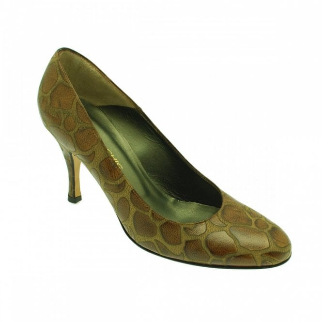 Sabrina Chic Round Toe Court Fancy Leather