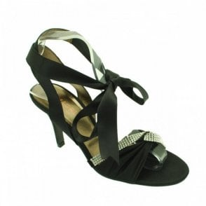 Satin Ankle Strap With Diamonte