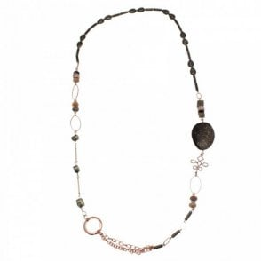 Semi Precious Stone Long Necklace
