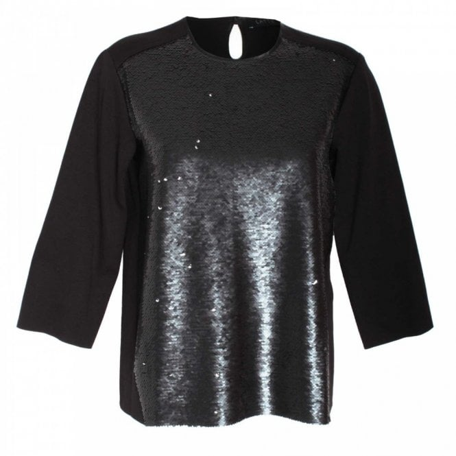 Latte Sequin Long Sleeve Top