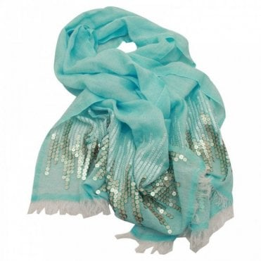 Ombre Sequin Woven Long Scarf