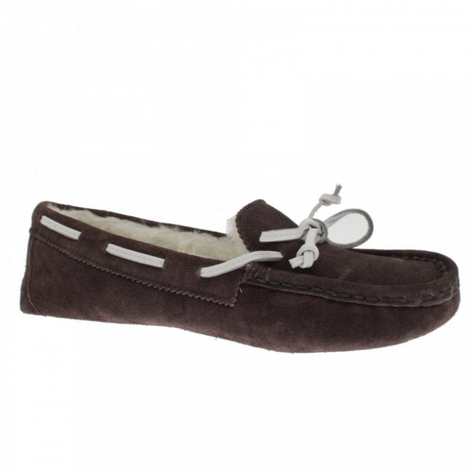 Chatham Shearling Lined Boater Style Slipper