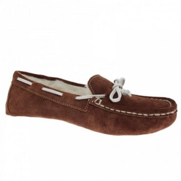 Shearling Lined Boater Style Slipper