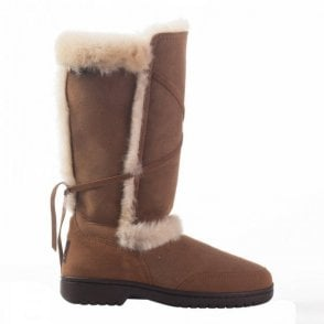 Canterbury Sheepskin Fur Tie Detail Long Boot
