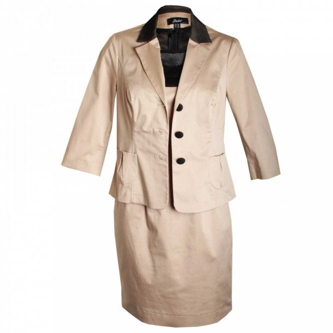 Badoo Shift Dress And Jacket With Bow