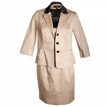 Shift Dress And Jacket With Bow