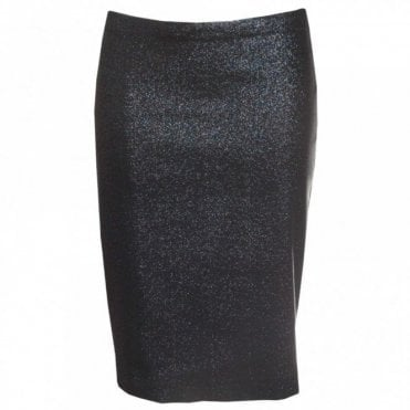 Shimmer Fabric Fitted Pencil Skirt