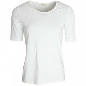 Betty Barclay Short Sleeve Diamante Neckline Top