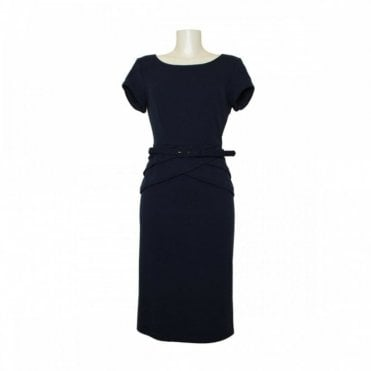 Joseph Ribkoff Short Sleeve Dress With Belt