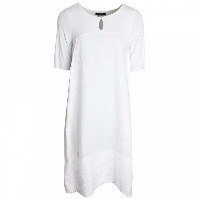 Latte Short Sleeve Linen Dress