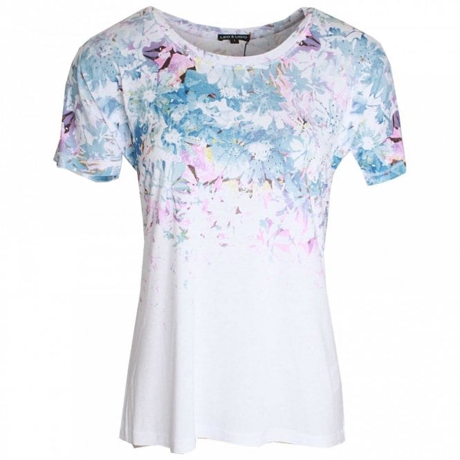 Leo Guy Short Sleeve Round Neck Printed Top