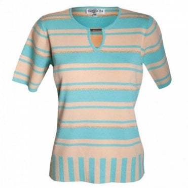 Passioni Short Sleeve Stripe Jumper