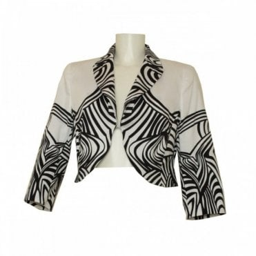 Short Tailored Geometric Print Jacket