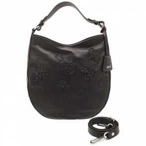 Shoulder Handbag With Floral Design