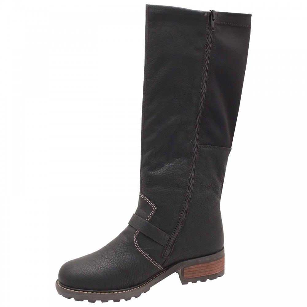 low priced da9dd 6f2a9 Side Stretch Black Long Winter Boot