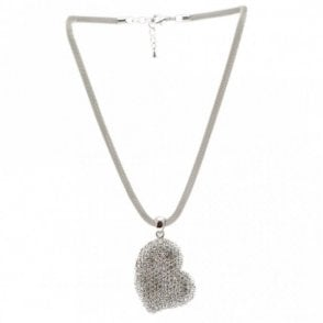Sidedrop Crystal Detail Heart Necklace