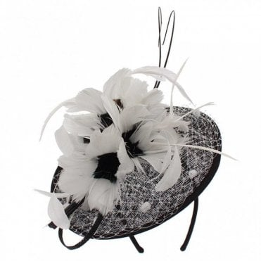 Sinamay Disc Fascinator With Feathers