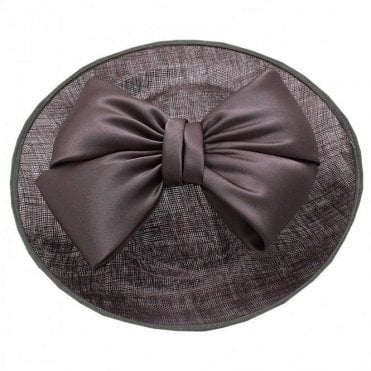 Sinamay Disc Fascinator With Satin Bow