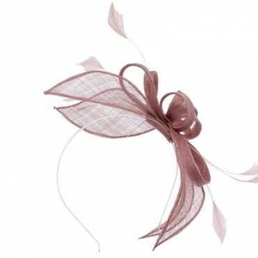 Sinamay Headband Woven Bow Fascinator