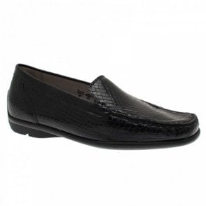 Skin Effect Patent Slip On Moccasin