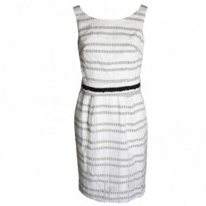 Sleeveless A Line Cotton Dress With Belt