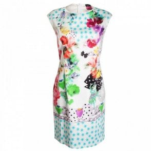 Sleeveless Bold Printed Cotton Sundress