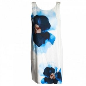 Sleeveless Floral Design Shift Dress