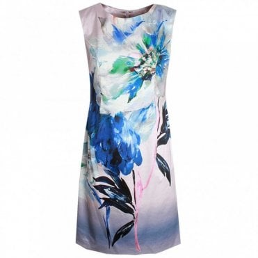 Sleeveless Floral Print Shift Dress