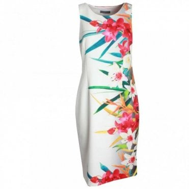 Sleeveless Foral Print Dress