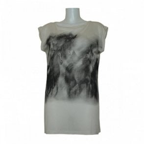 Sleeveless Horse Print Jersey Top