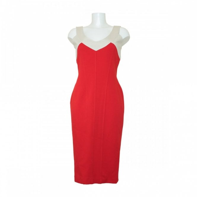 Isabel De Pedro Sleeveless Panel Stretch Dress