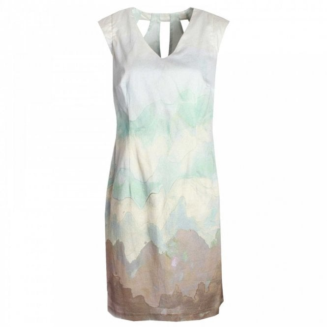 Marie Mero Sleeveless Print Shift Dress