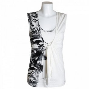 Sleeveless Top With Zebra Prt