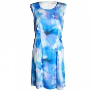 Sleeveless Water Colour Design Dress