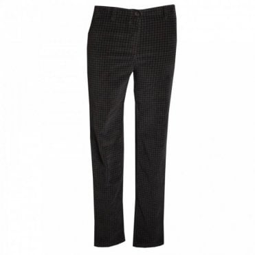 Slim Fit Stretch Dogtooth Print Jeans
