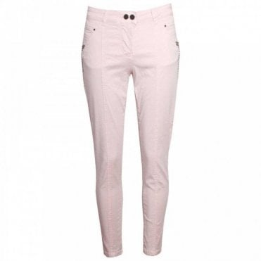 Slim Leg Cropped Fit Trousers