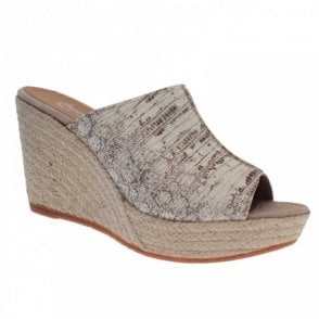 Slip On Skin Print High Wedge