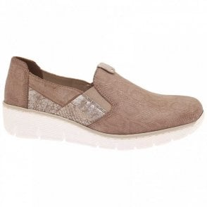 Slip On Textured Flat Trainer