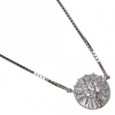 Nour London Snowflake Design Fine Chain Necklace