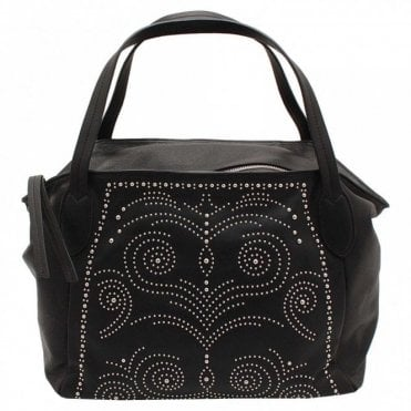 Soft As Velvet Studded Leather Handbag