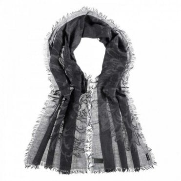 Fraas Soft Frayed Edge Effect Wool Long Scarf