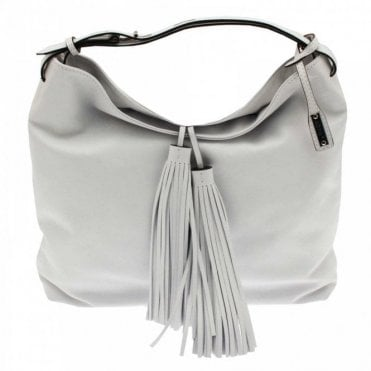 Soft Leather Tassel Shoulder Handbag
